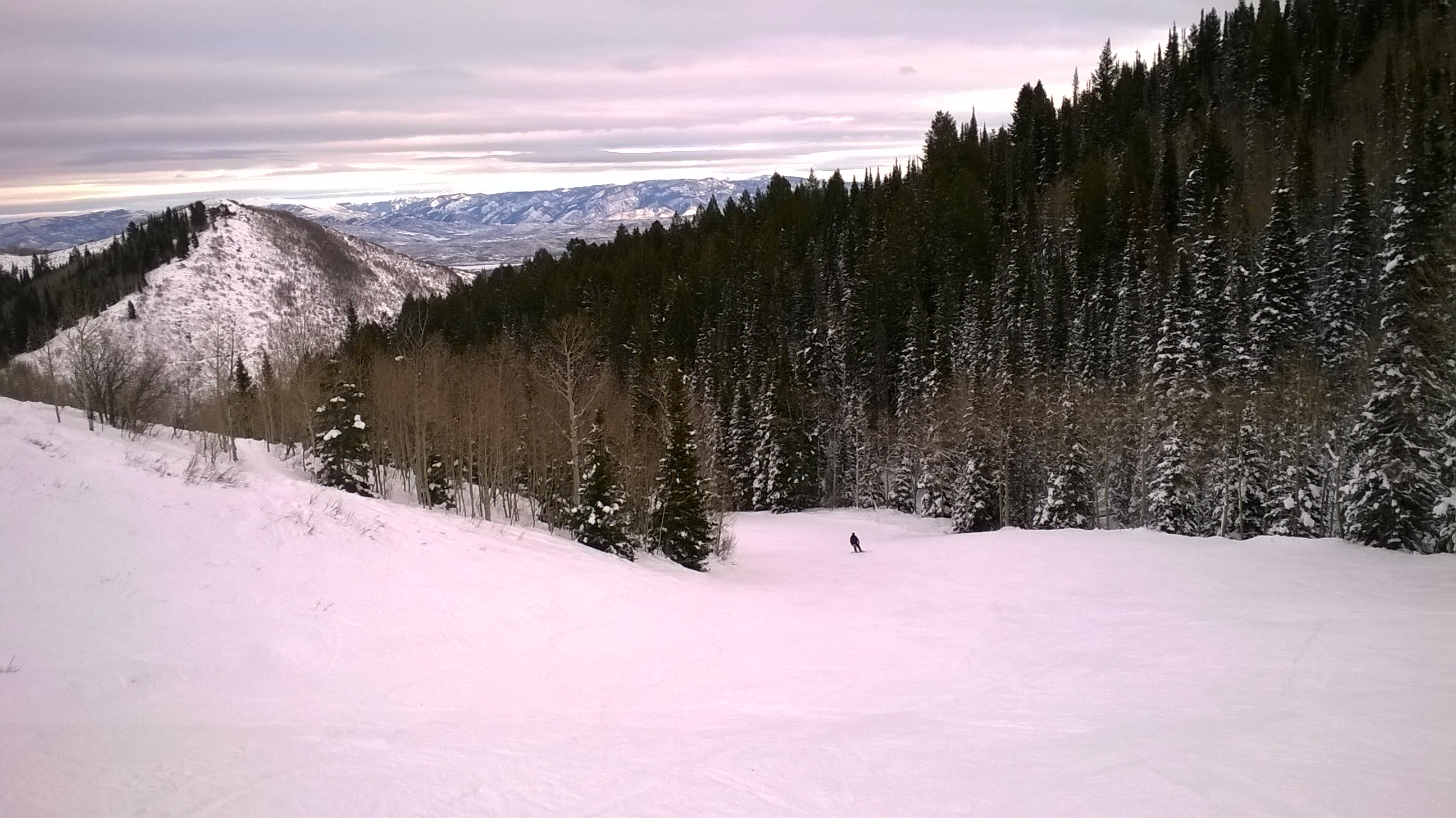 View from ski trail at The Canyons